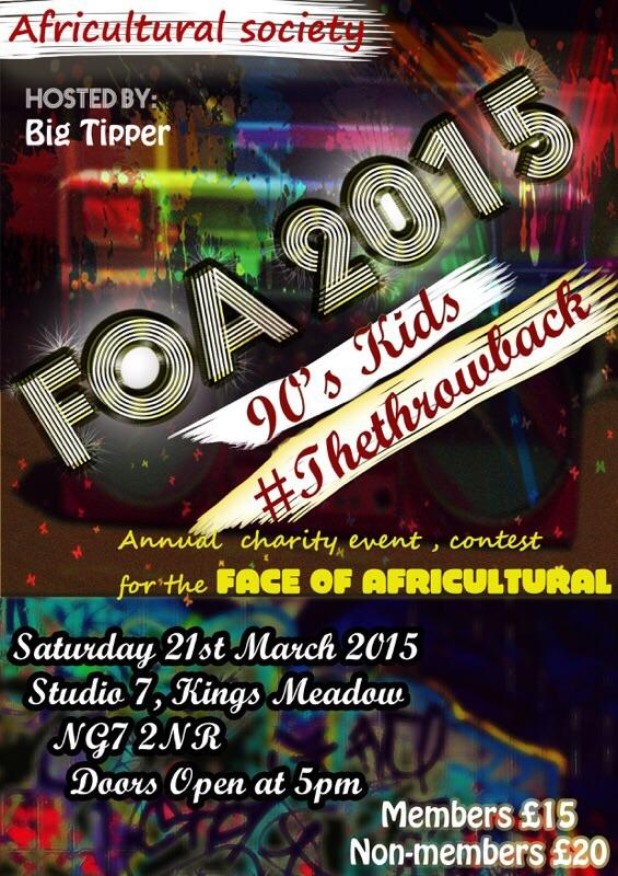 We at Studio 7, KMC in Notts on March 21st bringing you FOA 2015