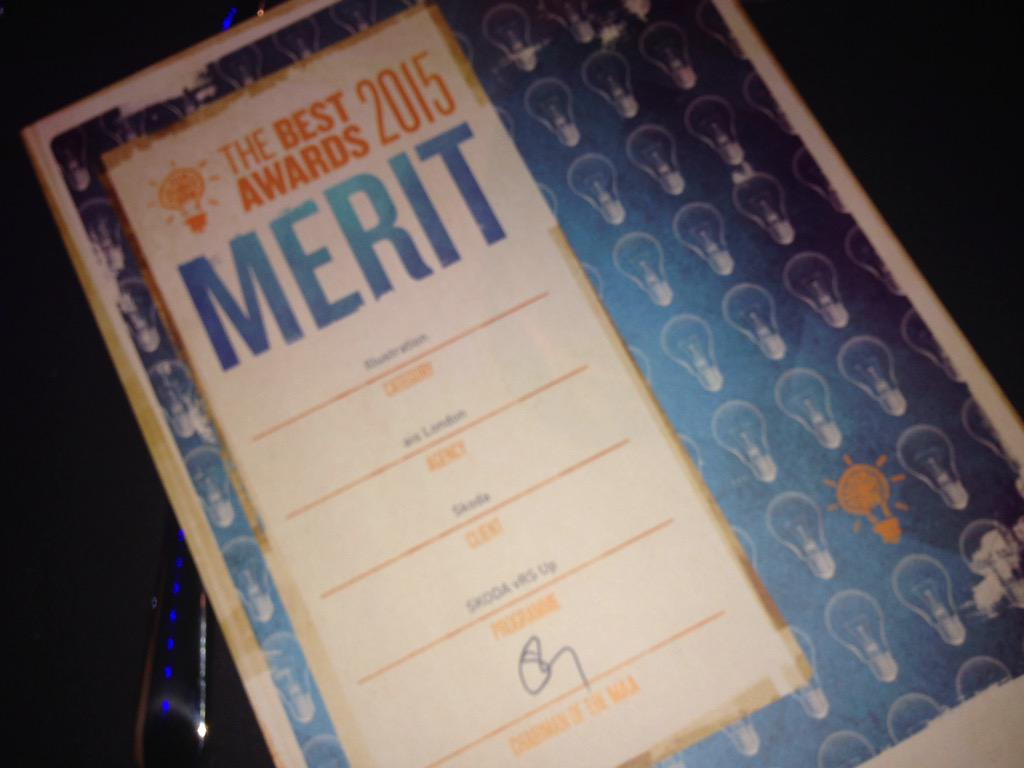 Banging news that we've been awarded #merit @MAABestAwards #vrs #skoda http://t.co/8tByoCT6mY