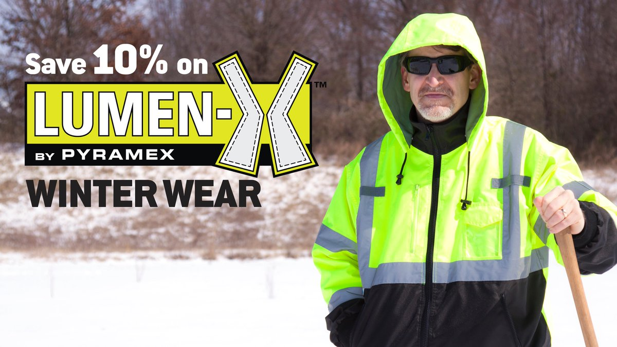Warm up to Lumen-X! Receive a 10% discount on all Lumen-X Hi-Vis Winter Wear. Find out how http://t.co/MtUlDq7Cc2 http://t.co/omNytTDyX5