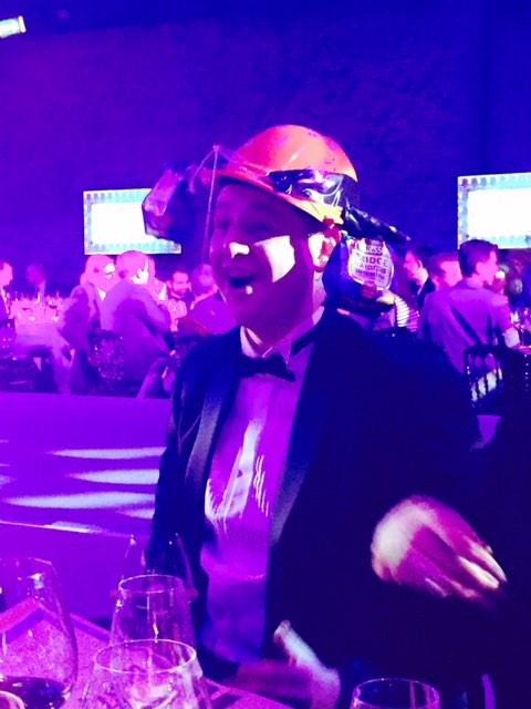 Our @MattessonsFR client Chris with his bespoke mmm3000 helmet cleaning up tonight at #maabestawards @MAA http://t.co/CGT84RmzYG