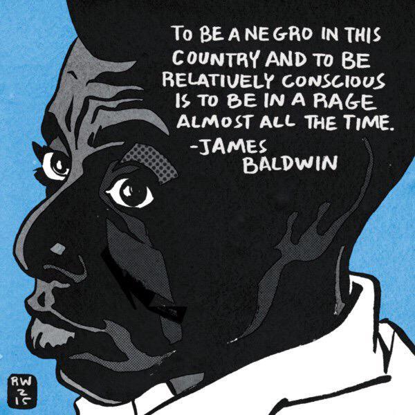 James Baldwin illustration by Ronald Wimberly