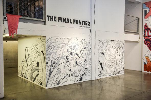 Downtown for First Thursday? Come view murals by Rather Severe in the PDX gallery: http://t.co/4DLomYEQX2 http://t.co/2HHSw4BMZw