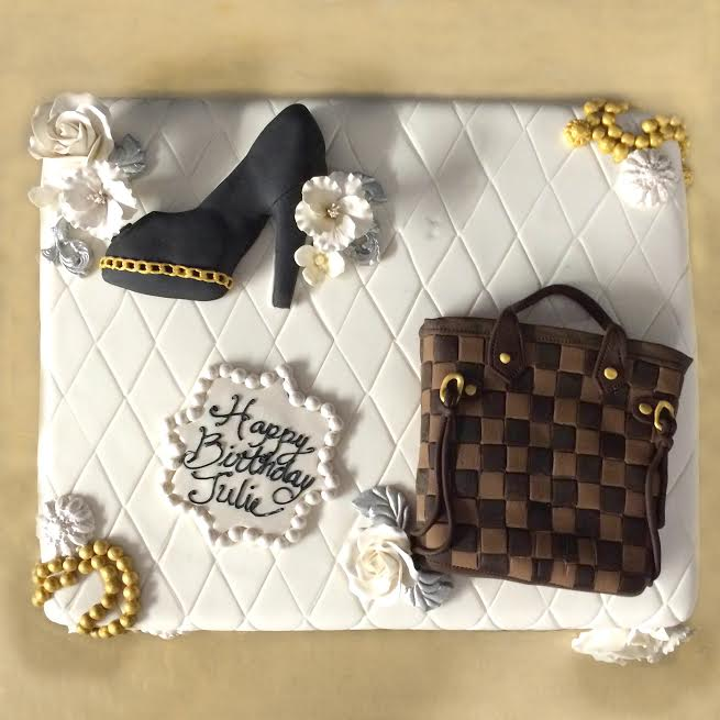 We Re Saying Happy Birthday To Our Ceo Realrealjulie With Chanel And Louis Vuitton In Cake