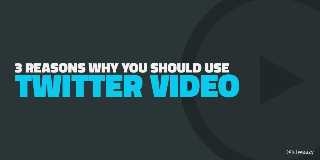 RT @RTweazy: 3 Reasons Why You Should Use #Twitter #Video. - by @robbie_palmer http://t.co/w2AV5LY0se via @SocialMediaLond http://t.co/Cs4O…