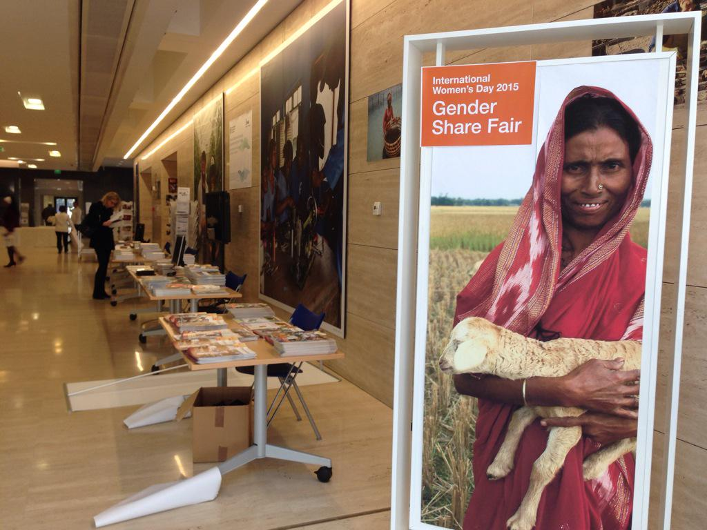 @IFADnews buzzing with activity setting up #gender sharefair + celebrate #IWD2015 together with @FAOnews, @WFP http://t.co/f8wUecD60g