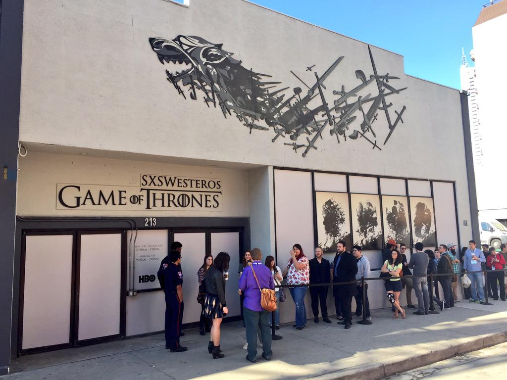 So pumped! @GameofThrones activation at #sxsw. #SXSWesteros http://t.co/h7sbiKqjkG