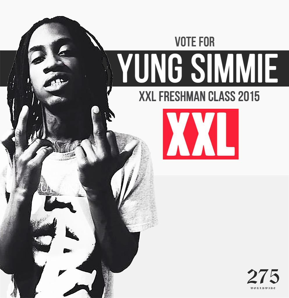 VOTE FOR @275yungsimmie ON @XXL FOR FRESHMEN 15' VOTING STARTS MONDAY #275WorldWide VOTE AT http://t.co/F4OKQ6rwmd http://t.co/V2RLQrzwtX