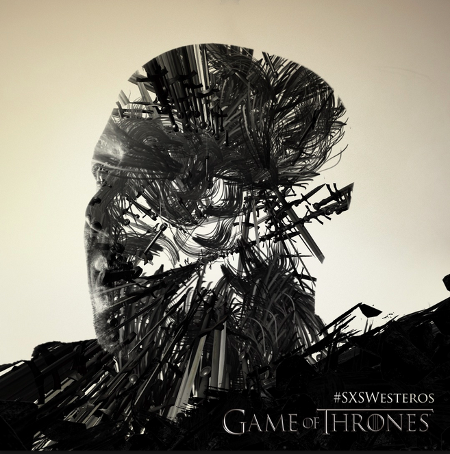 Heavy is the head that wears the crown. Or at least that's in the @GameOfThrones poster. #SXSW #SXSWesteros http://t.co/oL4wvc4Ex2