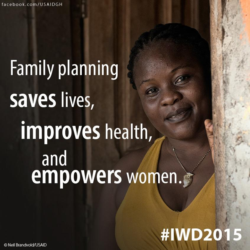 #FamilyPlanning saves lives, improves health, & empowers women. RT if you agree! #IWD2015 http://t.co/McfAkYBHyv