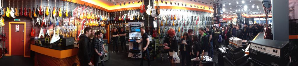 Amazing turnout today is Glasgow For @LZZYHALE signing!! Great fans here!! http://t.co/7vJA1vd9t4