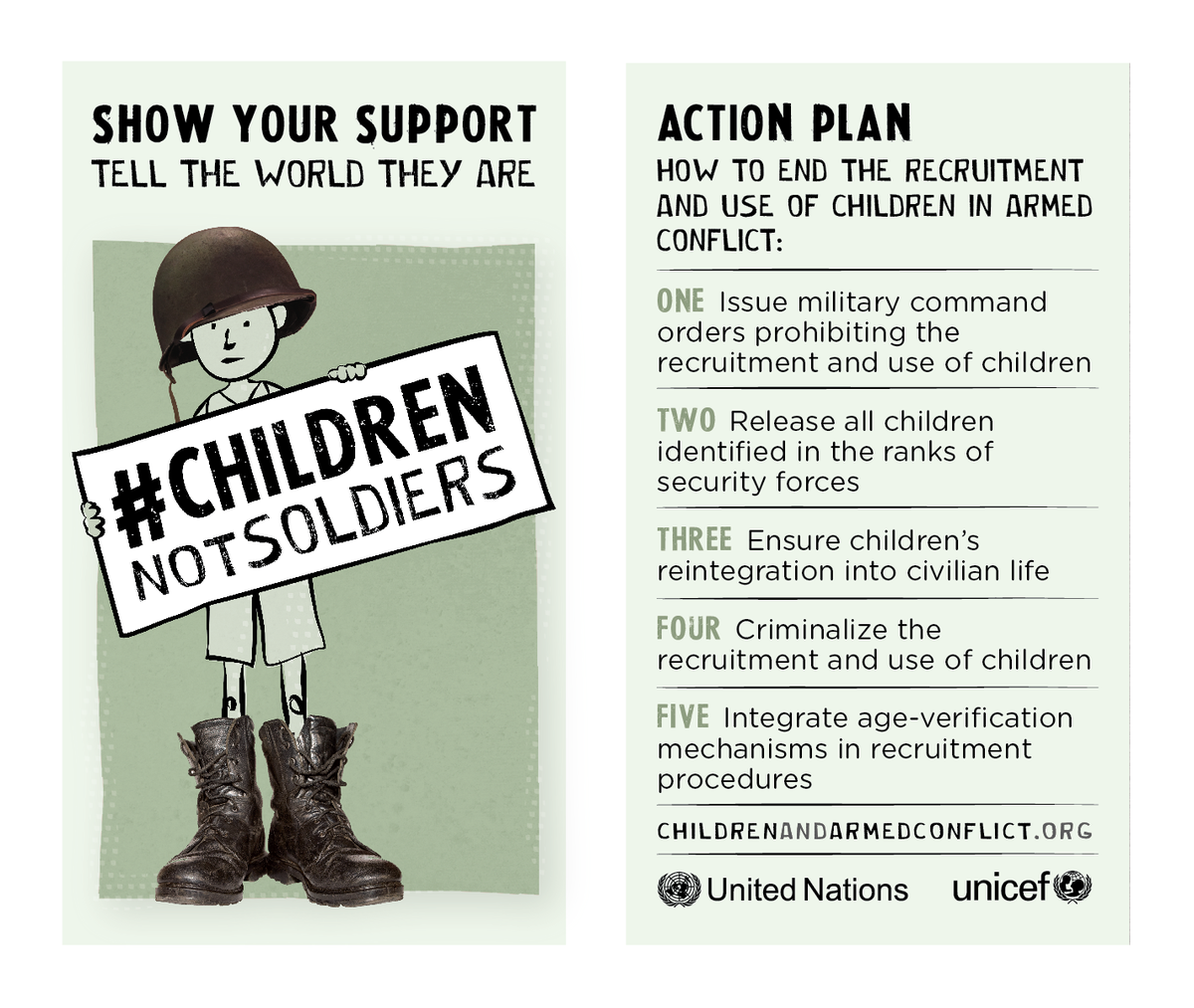 After one year, we still need your help to end recruitment of children, http://t.co/uQiSsmgi9B #ChildrenNotSoldiers http://t.co/9b3kPWrPpW