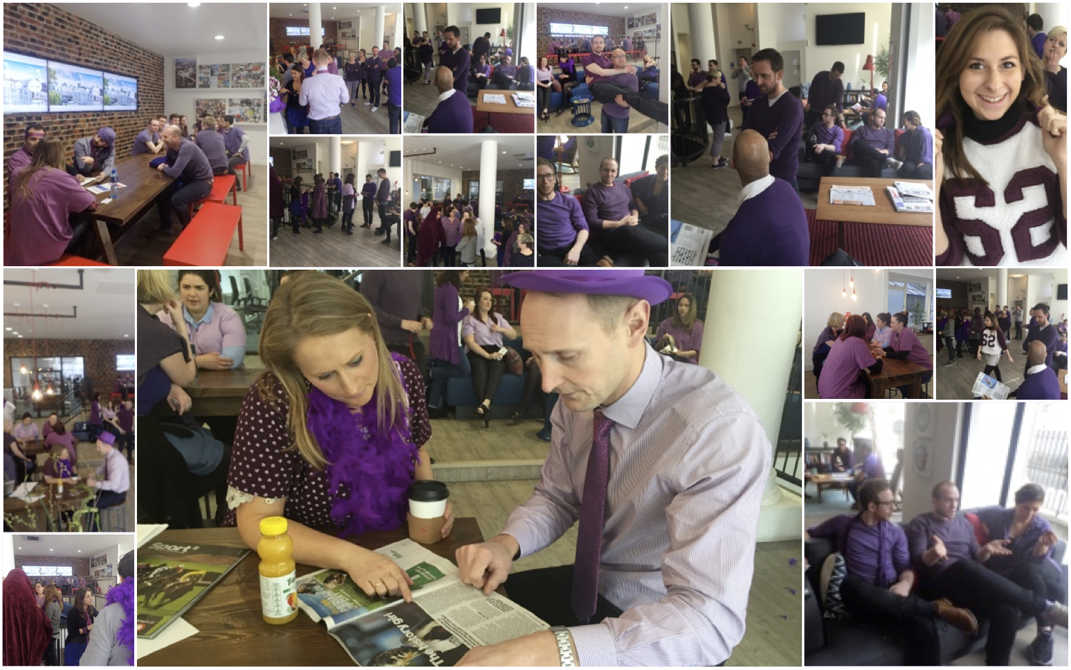 It's all gone a bit purple @OMD_UK in support of #IWD2015 #50shadesofpurple http://t.co/vNDsxVS7A1