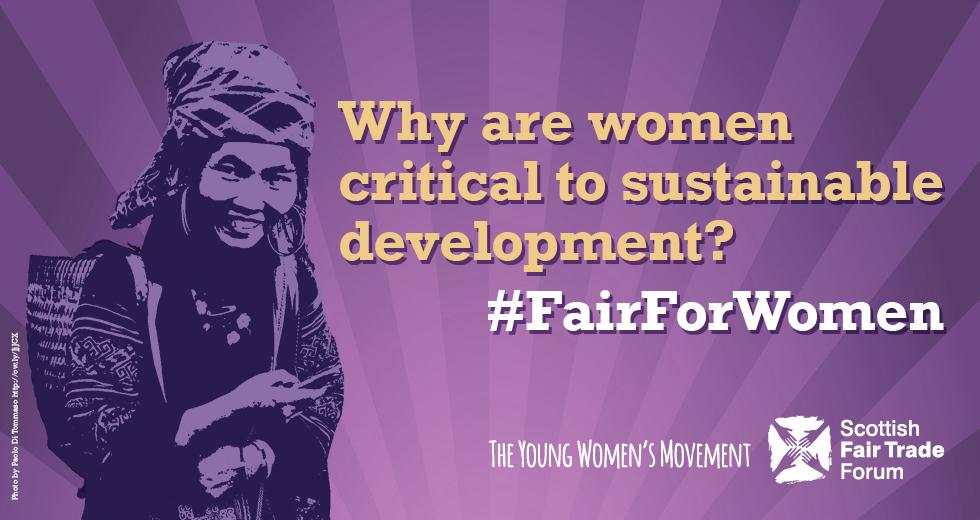 #FairForWomen Q2 - excited to know what you think about women and sustainable development! http://t.co/WK4hN41IRd