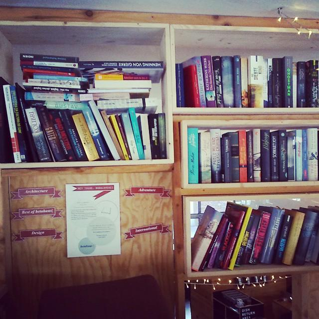 Great in-house library in a freelancer's cafe close to our #Berlin office! http://t.co/s1zpnBbzWB #Instagram http://t.co/mYFykelit0