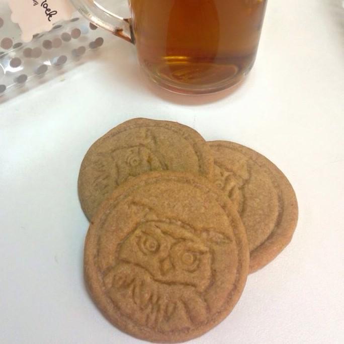 Eagle owl cookies