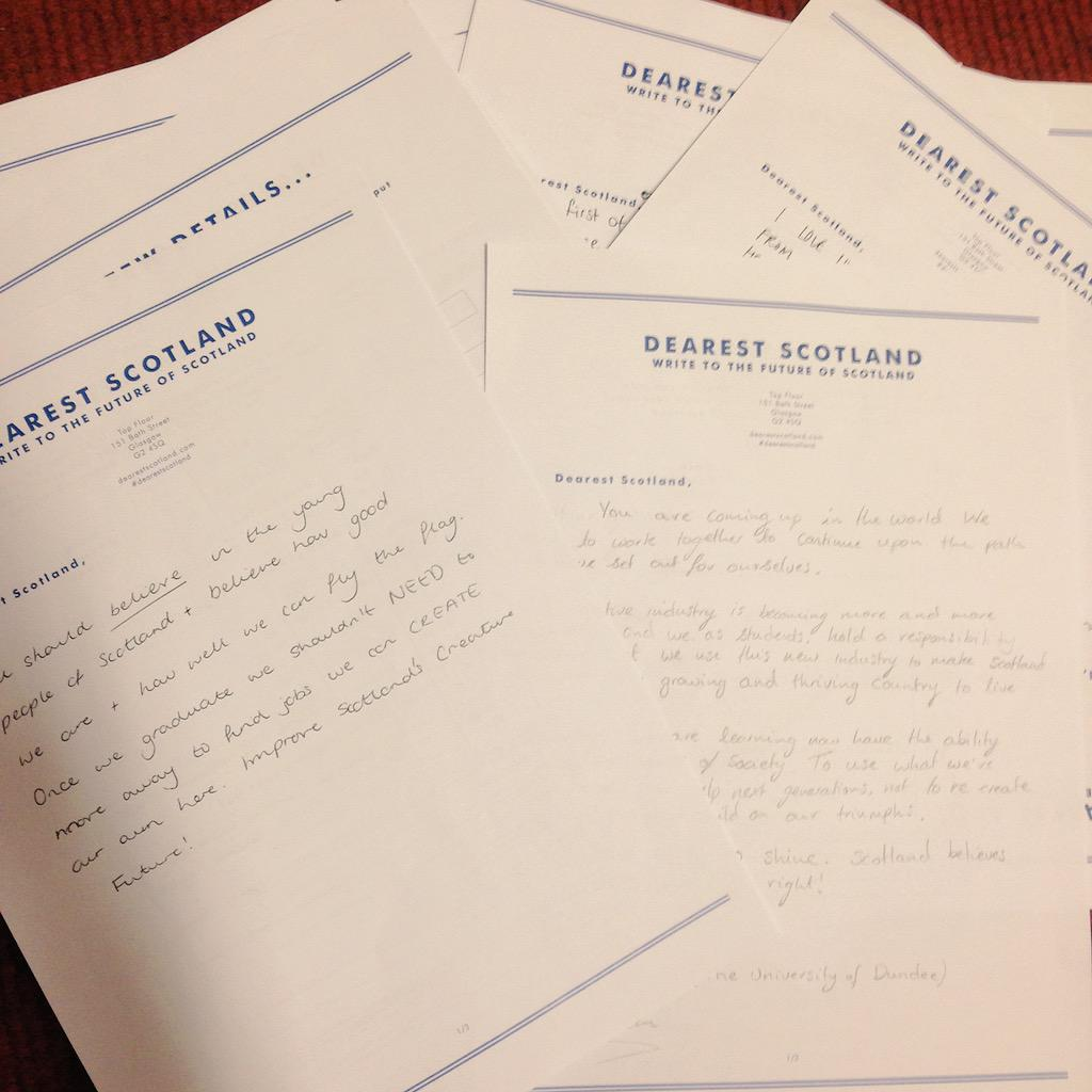 Sixty new @DearestScotland letters from #desent15 students bringing tears to my eyes http://t.co/gtZvAs86uc