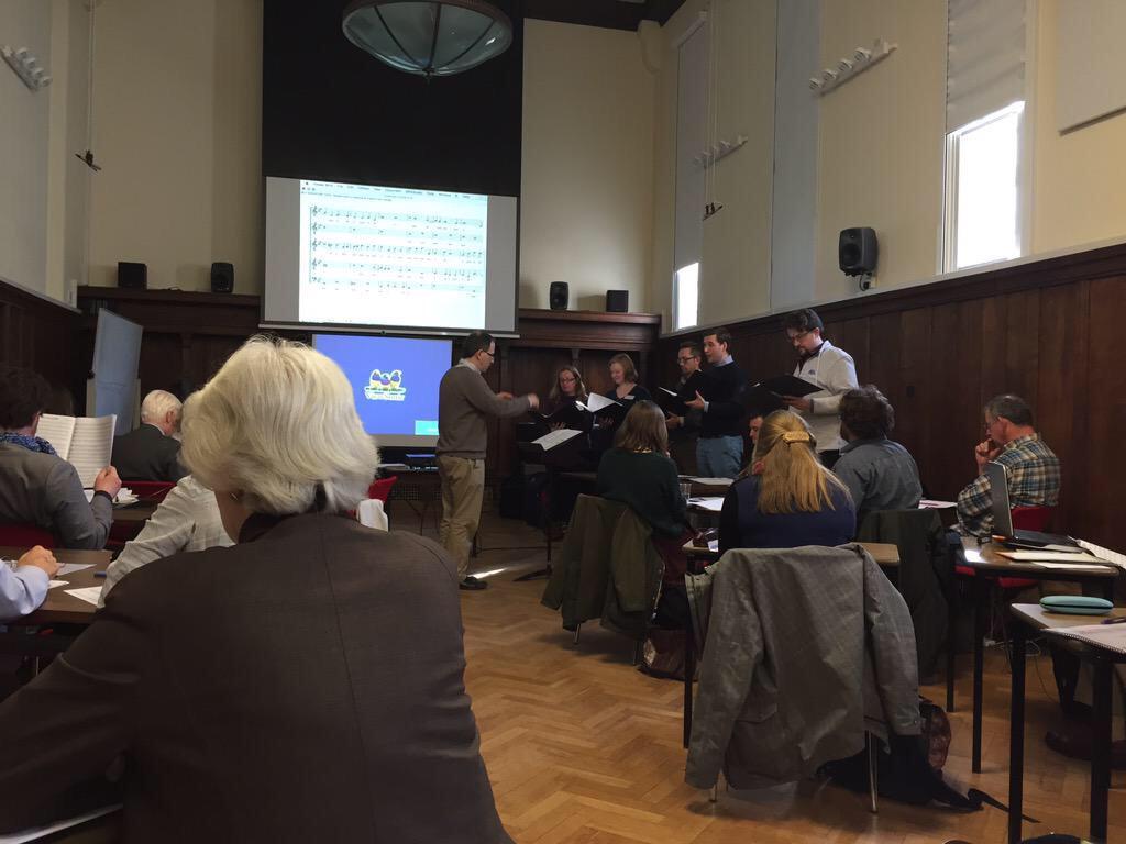 Academia met performance this afternoon in our #TPRecon workshop on Parsons' Peccantem me quotidie @TudorPartbooks http://t.co/fEjouSvhfj
