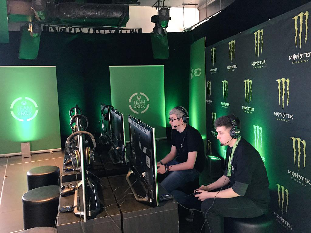 We're all set up and ready to go for our @XboxStudentsUK event with @OMGitsAliA, @MonsterEnergyUK & @XboxUK #TeamXbox http://t.co/FZ0bw1bJXh