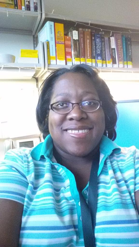 Contrary to national polling, there ARE black people working in libraries! I'm buying your stuff.  #BlackOutDay http://t.co/YWVenQcIof