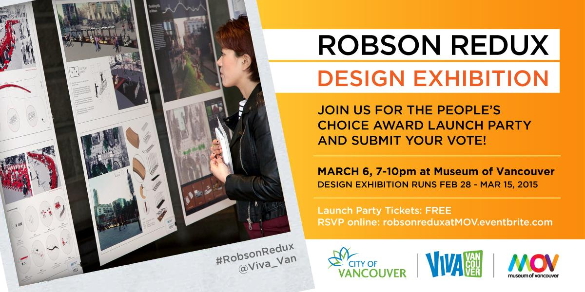 Today's the day! The sold out launch party for people's choice award starts at 7pm at the @Museumofvan #RobsonRedux http://t.co/h6mAsGLM6Z