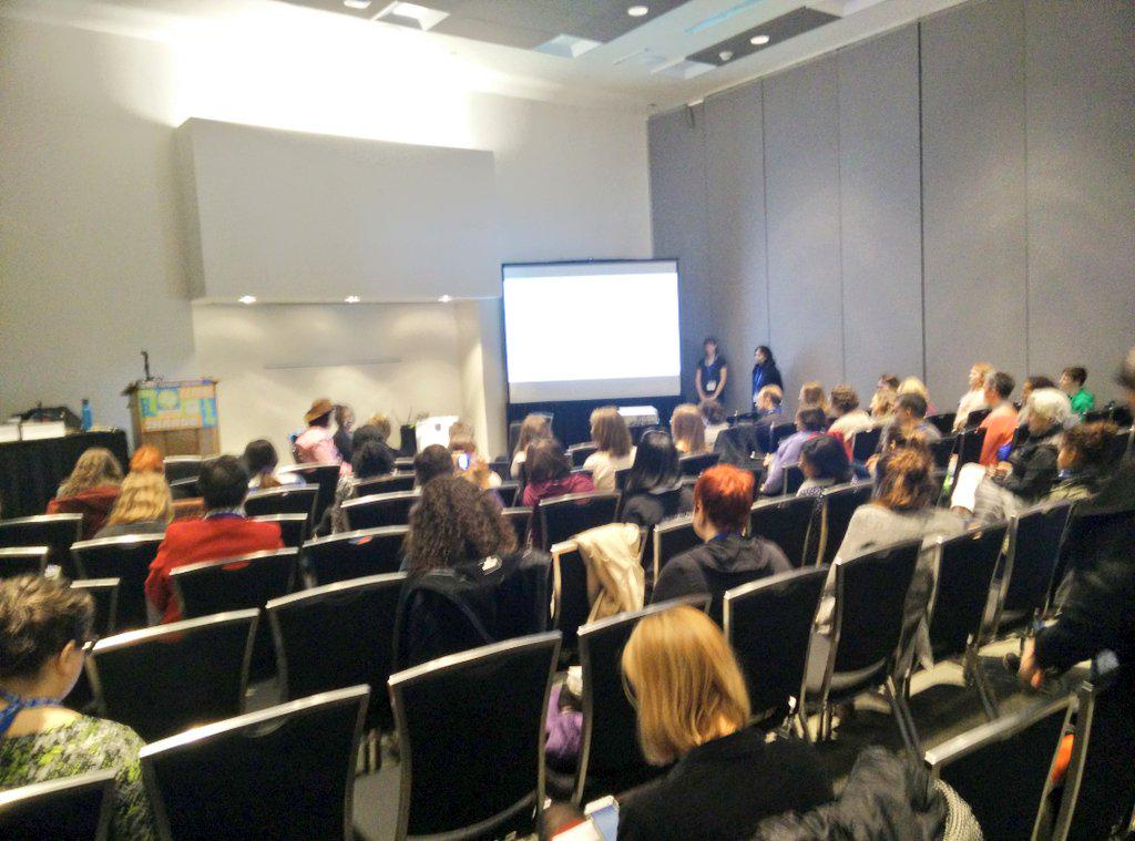 Disappointed that the #15NTC session on women in tech and leadership had almost no men in attendance #15NTCfemtech http://t.co/BRIMF2srEE