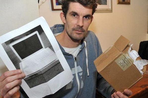 Как же это называется, подсказываем. Британец купил на eBay MacBook за $450 и получил по почте коробку с фото ноута http://t.co/mgef8yLmTt