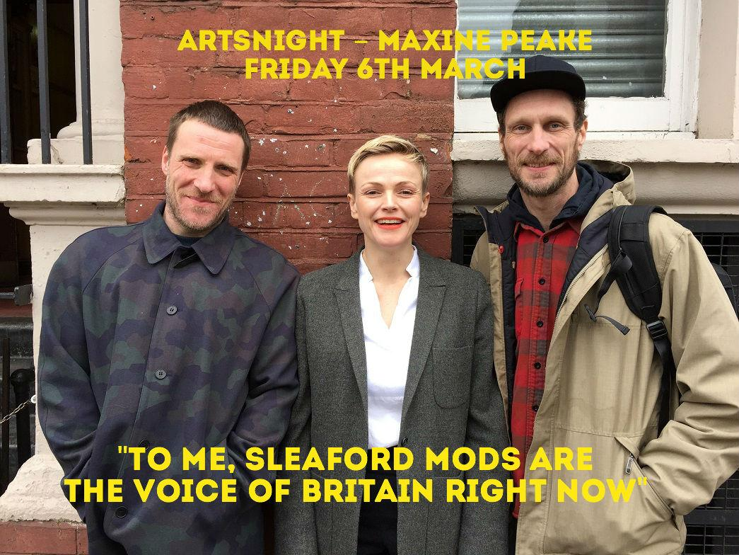 TONIGHT 11pm @BBCTwo – Maxine Peake talks to @sleafordmods about railing against the system http://t.co/ho2bOIx0m0