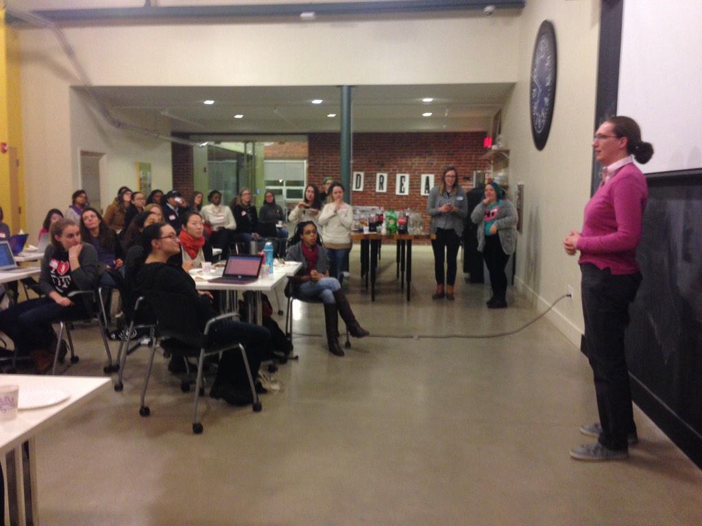 @Banderkat from @azavea talking about #opendata at #LadyHacks2015 kick-off. http://t.co/mx45NpTcjw