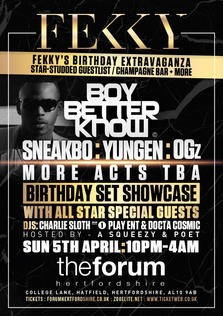 RT @FekkyOfficial: my birthday and everyone is invited we R gonna shut it down 2 many surprise guests 😱  announcing more names soon RT http…