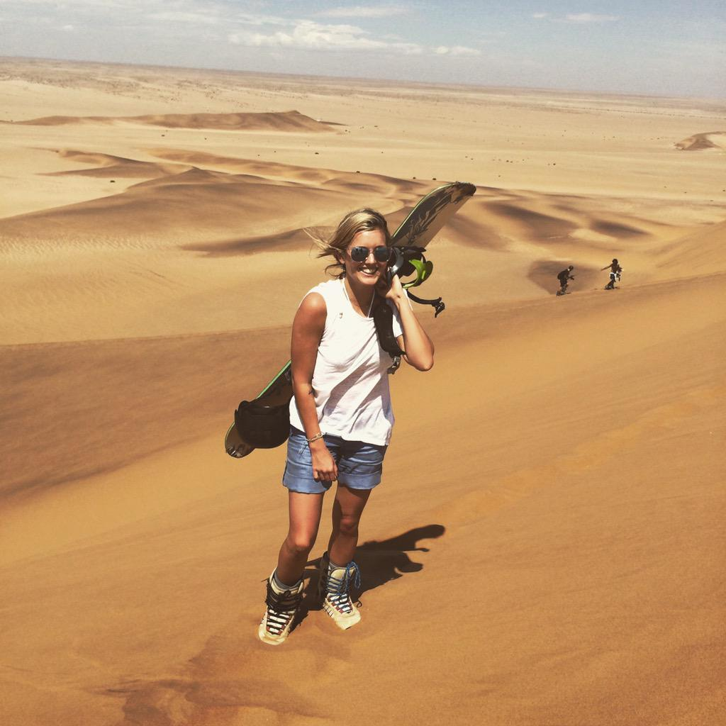 How we roll. #Namibia @visionshg #sandsurfing http://t.co/anBui8W9ql