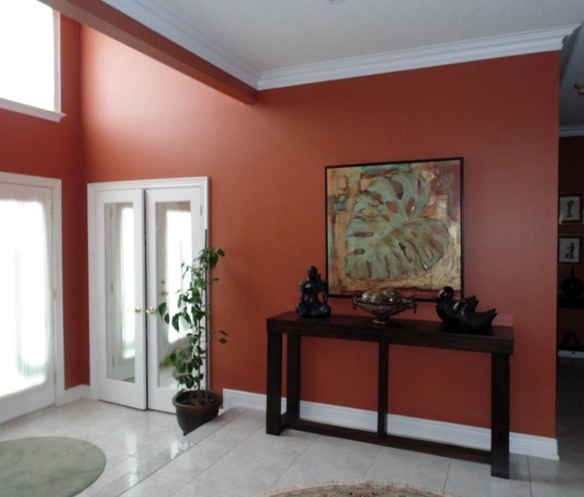 New Image Decor On Twitter Featuring Audubon Russet Hc51 By Benjamin Moore It S Elegant And Timeless Colour Adds A Clic Look To This Foyer