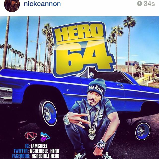 Shotout to the big bro @NickCannon for all the support. #Hero64 turn up! #LBC #Ncredible #PWD #Creez #HWP http://t.co/jTP8s8hJYS
