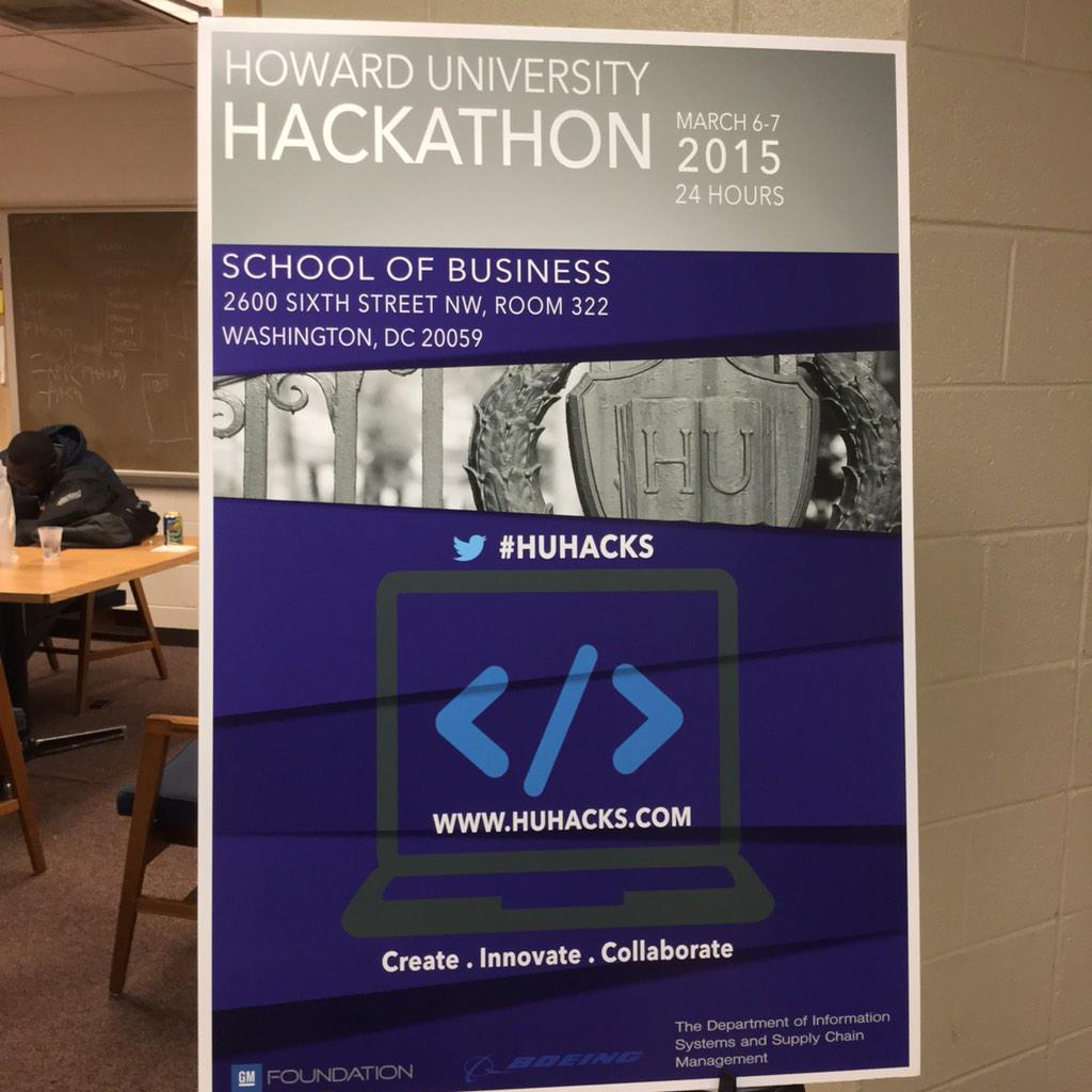 At #HUHacks the kids are on teams and coding @HowardU http://t.co/E3rYN9Bc1C