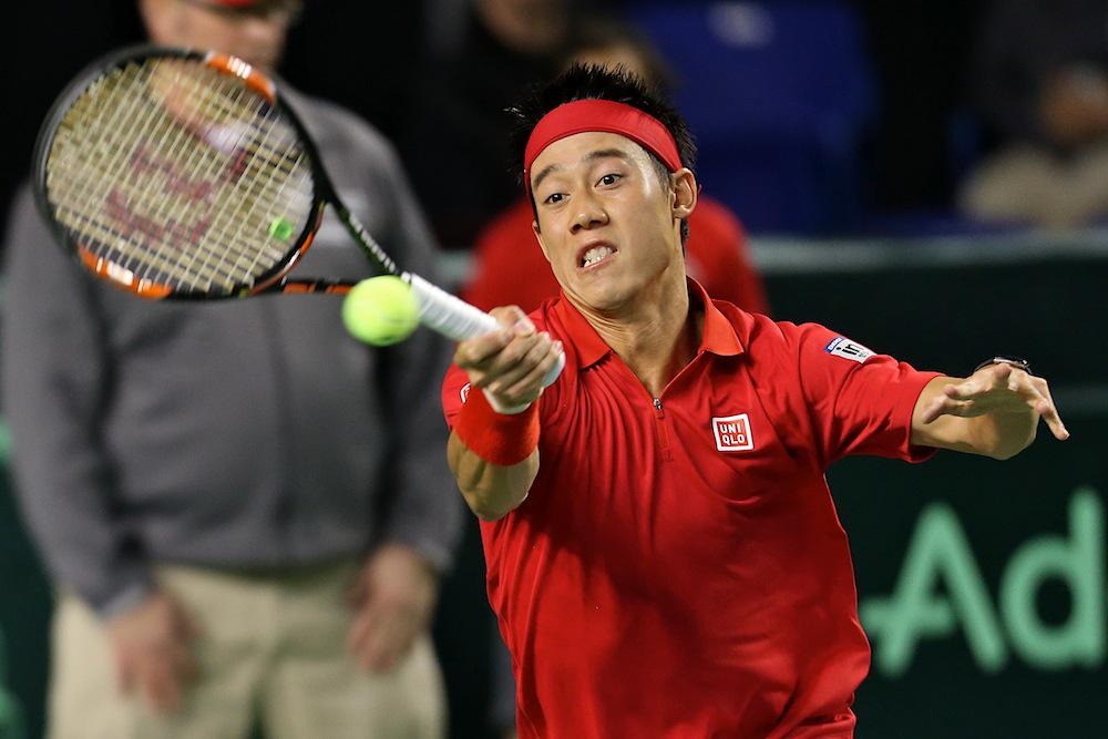 He's definitely special Kei. Nishikori def Pospisil 6-4, 7-6(5), 6-3. We're all tied at 1-1 after day 1. #DavisCup http://t.co/gujsA2RNj2