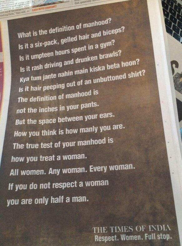 Powerful new ad from @timesofindia #IndiasDaughter http://t.co/0hrchzeQky