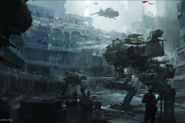 More amazing #conceptart from @JamesPaick - http://t.co/Pqt3UjxeA6 #mecha #scifi #darkatmosphere http://t.co/S78fqR9uu4
