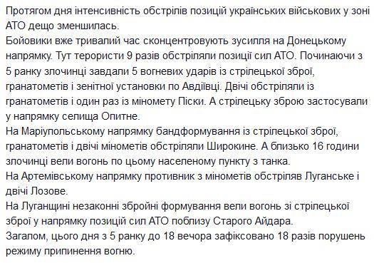 ОБСЕ зафиксировала десятки обстрелов в районе Донецкого аэропорта - Цензор.НЕТ 1916