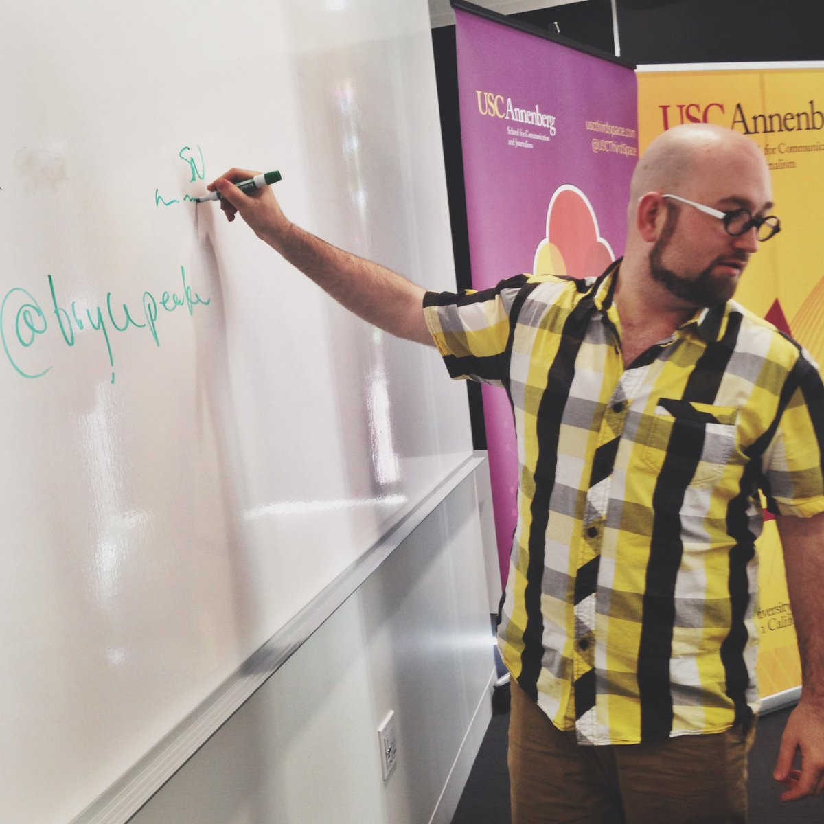 .@brycepeake dropping knowledge at the #MsFembot Hack-a-Thon http://t.co/AlY3gH2ykq