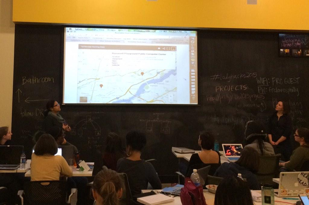 Tech bridge bringing tech to underrepresented youth #LadyHacks2015 http://t.co/sdG15ccazm