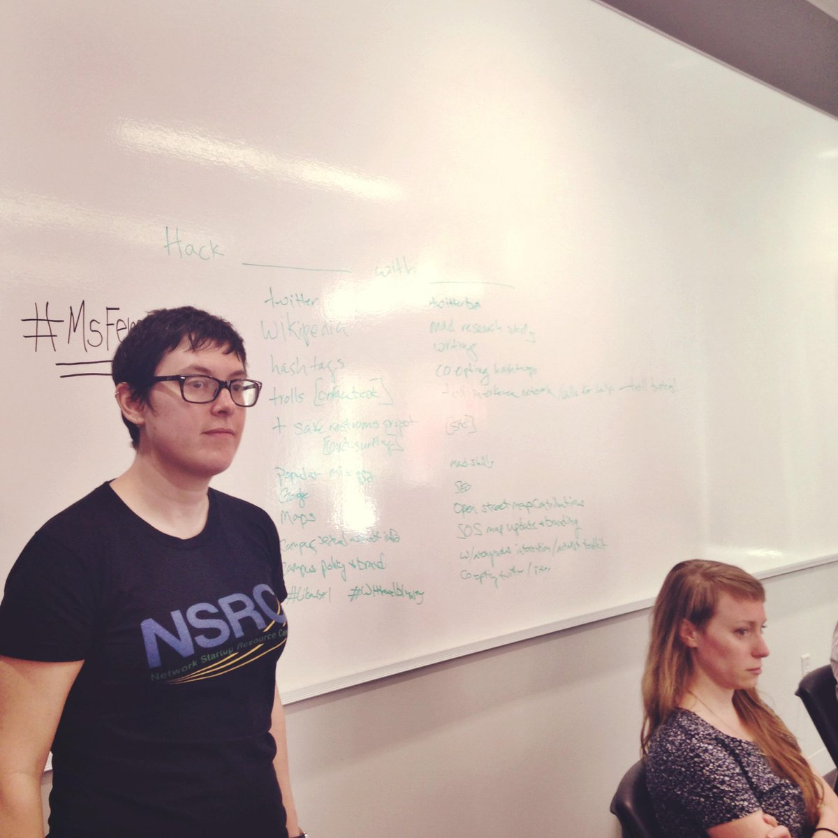 """#MsFembot Hack-a-Thon: """"Trolls over here, SOS Map there, Google bombing there -- let the hacking begin!"""" http://t.co/eGDU52BkM5"""