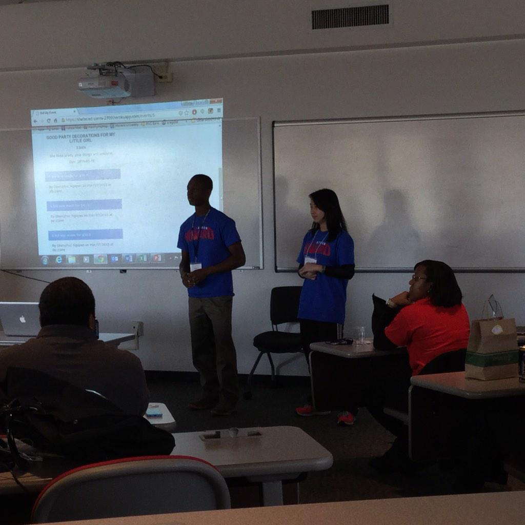Late to the final presentations but it has begun at @HowardU #HUHacks http://t.co/gY43Z3kfRM