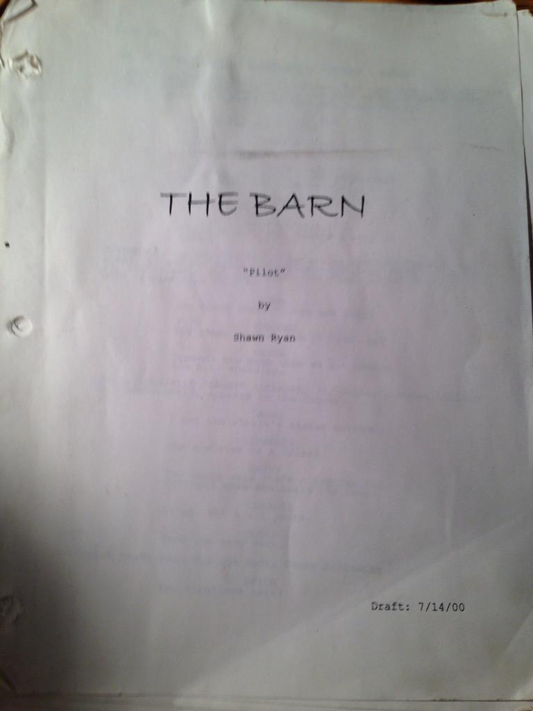 Guess what I just unearthed from my mess of an office. 7/14/00 -- well before casting began. http://t.co/TlbrohEORV