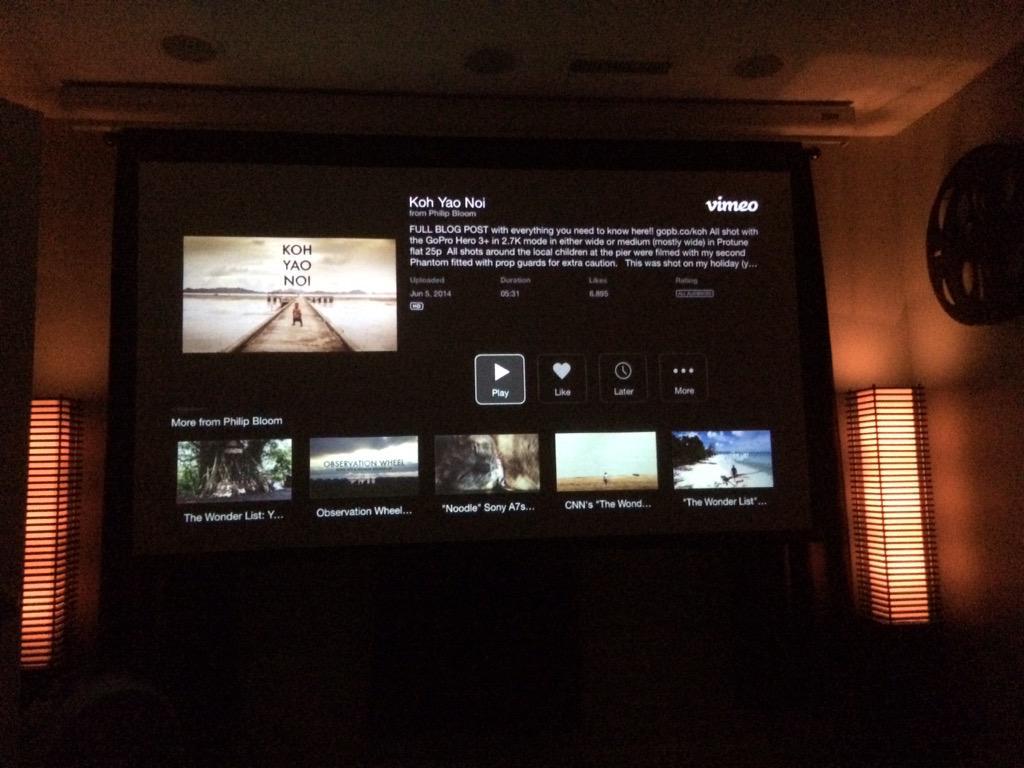 """Watching @PhilipBloom Award winning Drone Film """"Koh Yao Noi"""" in celebration! Great job my friend! http://t.co/zL8TwVc7nm"""