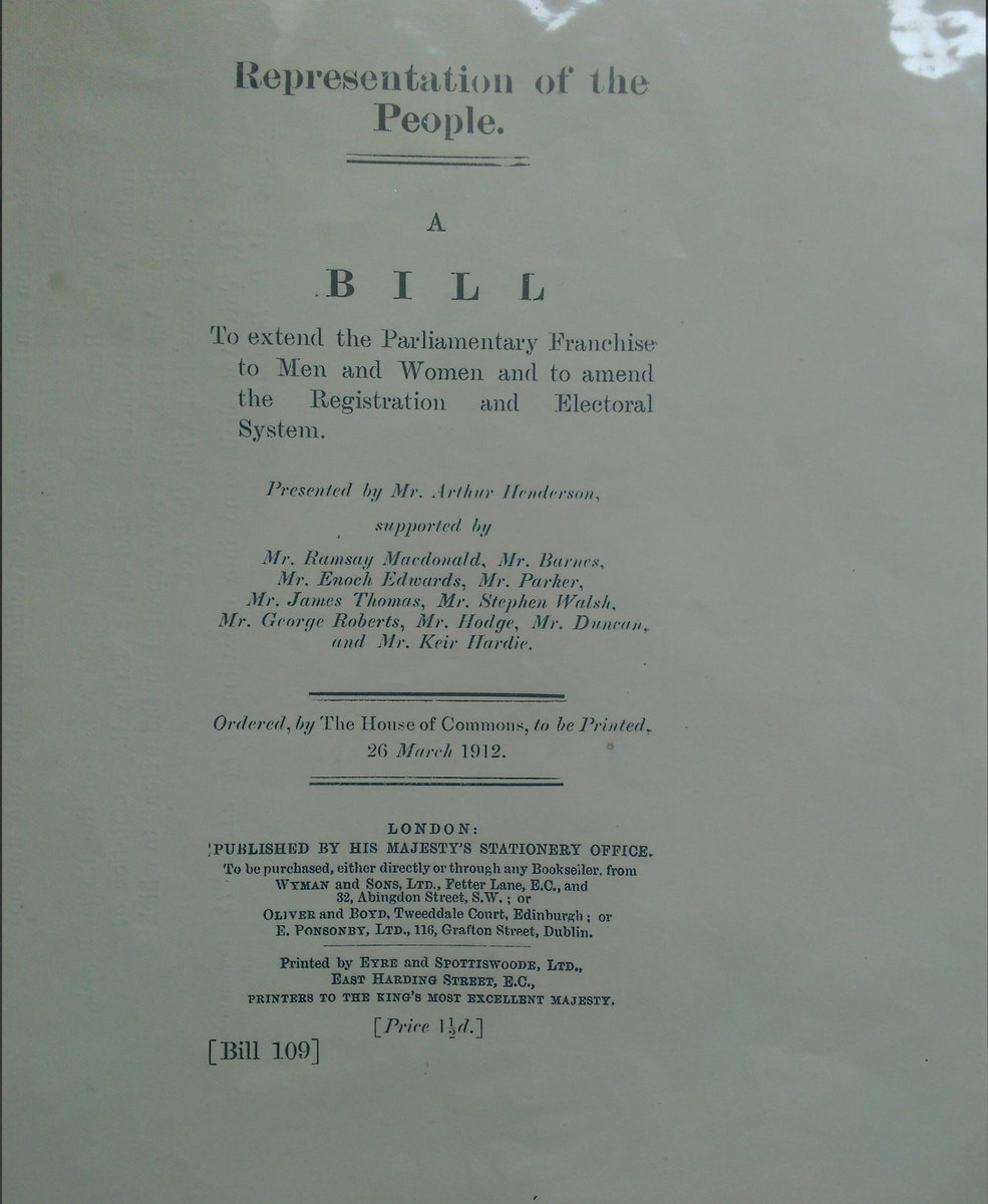 On international women's day here is bill labour MPs presented to parliament in 1912 for equal votes @LabourHistory http://t.co/aG0SQ5quEm