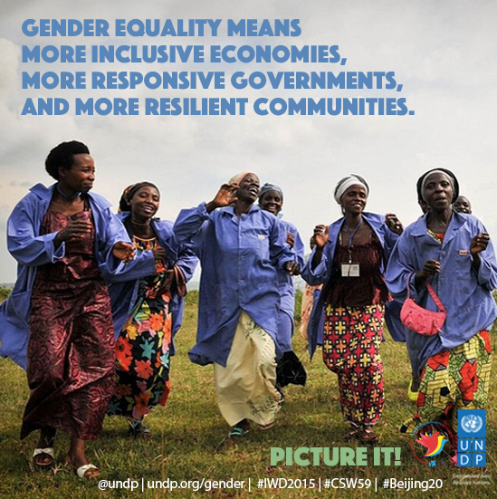 Happy International Women's Day! Picture a world where all women's rights are human rights! #CSW59 #IWD2015 http://t.co/a3cTde8VmD