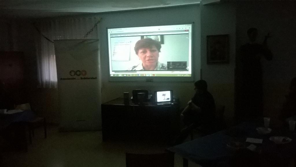 Olga Beatriz Tirado, durante su intervención. (Foto: @parroquiasg)