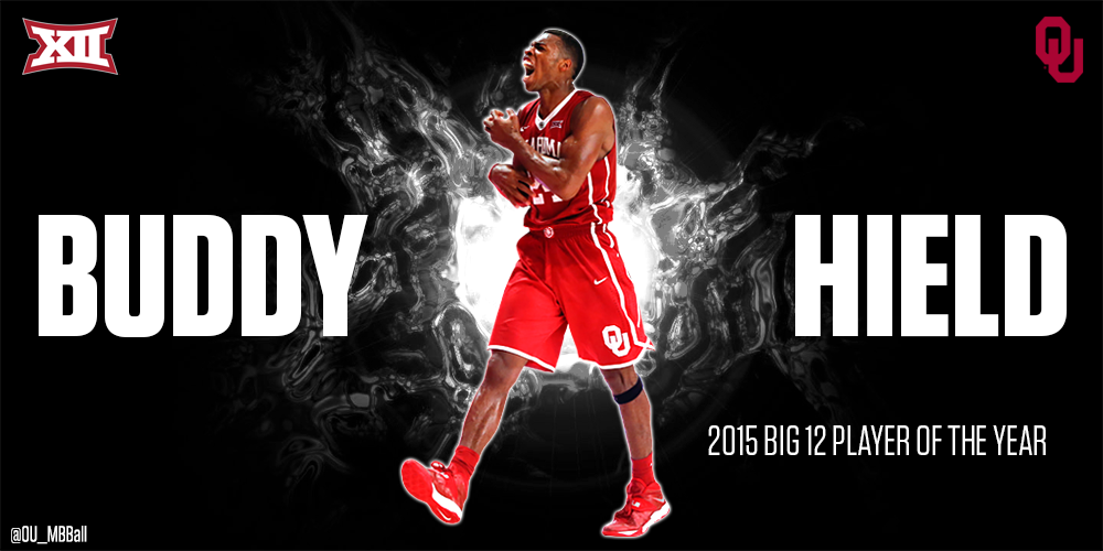 BOOM. Our very own Buddy Hield is named Big 12 Player of the Year! Way to go, Buddy. RT to congratulate! #Sooners http://t.co/WjoUpeRIKW