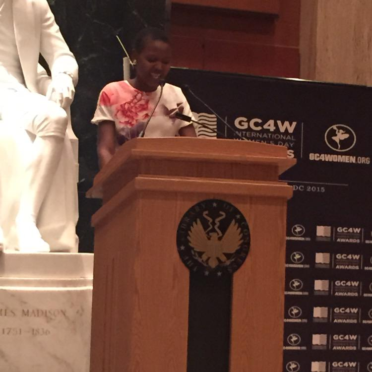 Congratulations to @vivianonano for The Leadership in community development and youth advocacy award #GC4W #YouthNow http://t.co/CQSrXQLQEa