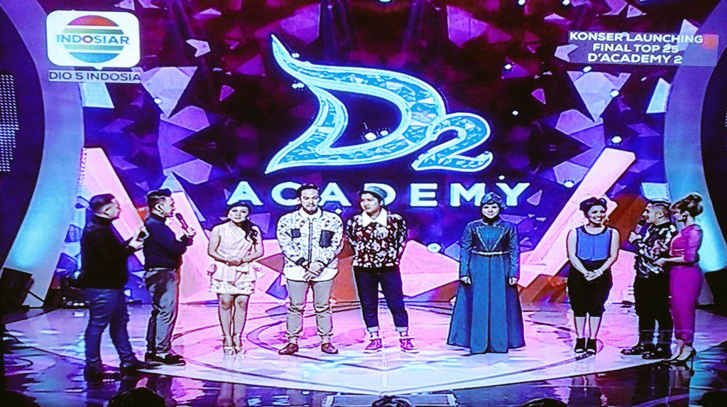 Foto Konser Final TOP 25 D'Academy 2 via twitter