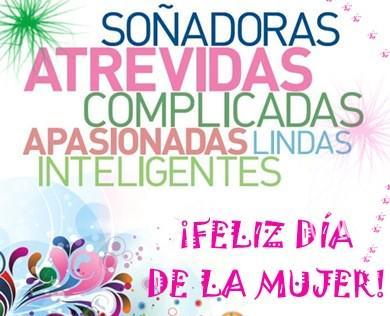 A todas la damas fabulosas, Feliz dia Internacional de la mujer! #mujer #